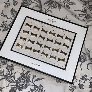 Kate Spade Gold Bow Push Pins